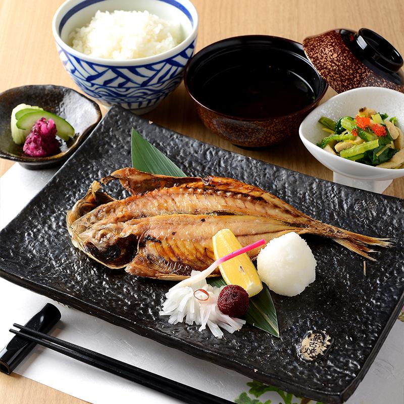 日替わり焼き魚(干物)定食